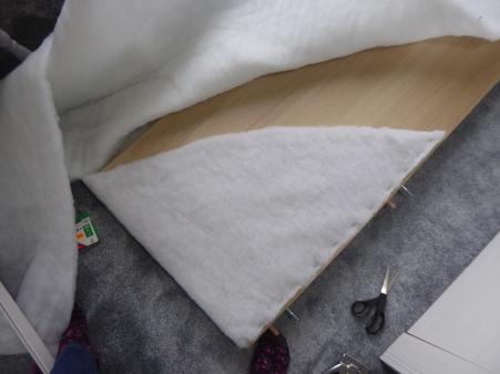 batting wrapped malm headboard