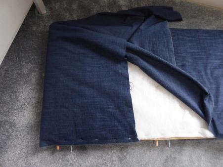 diy upholstered headboard rothko blue