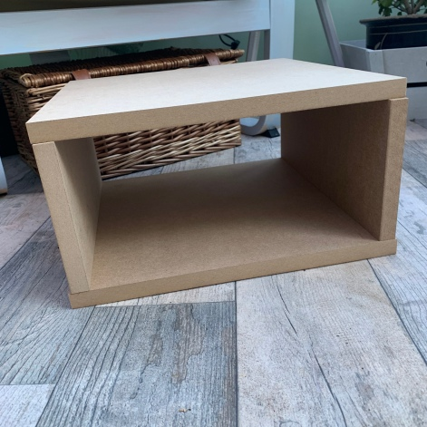 midcentury side table mdf box