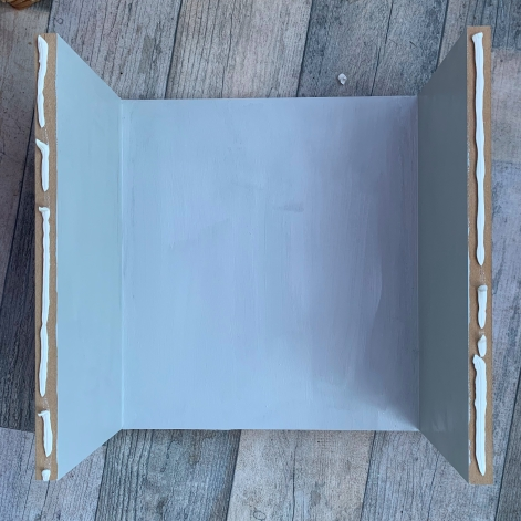 paint inside of box midcentury side table