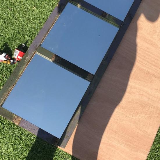 rustic garden mirror DIY