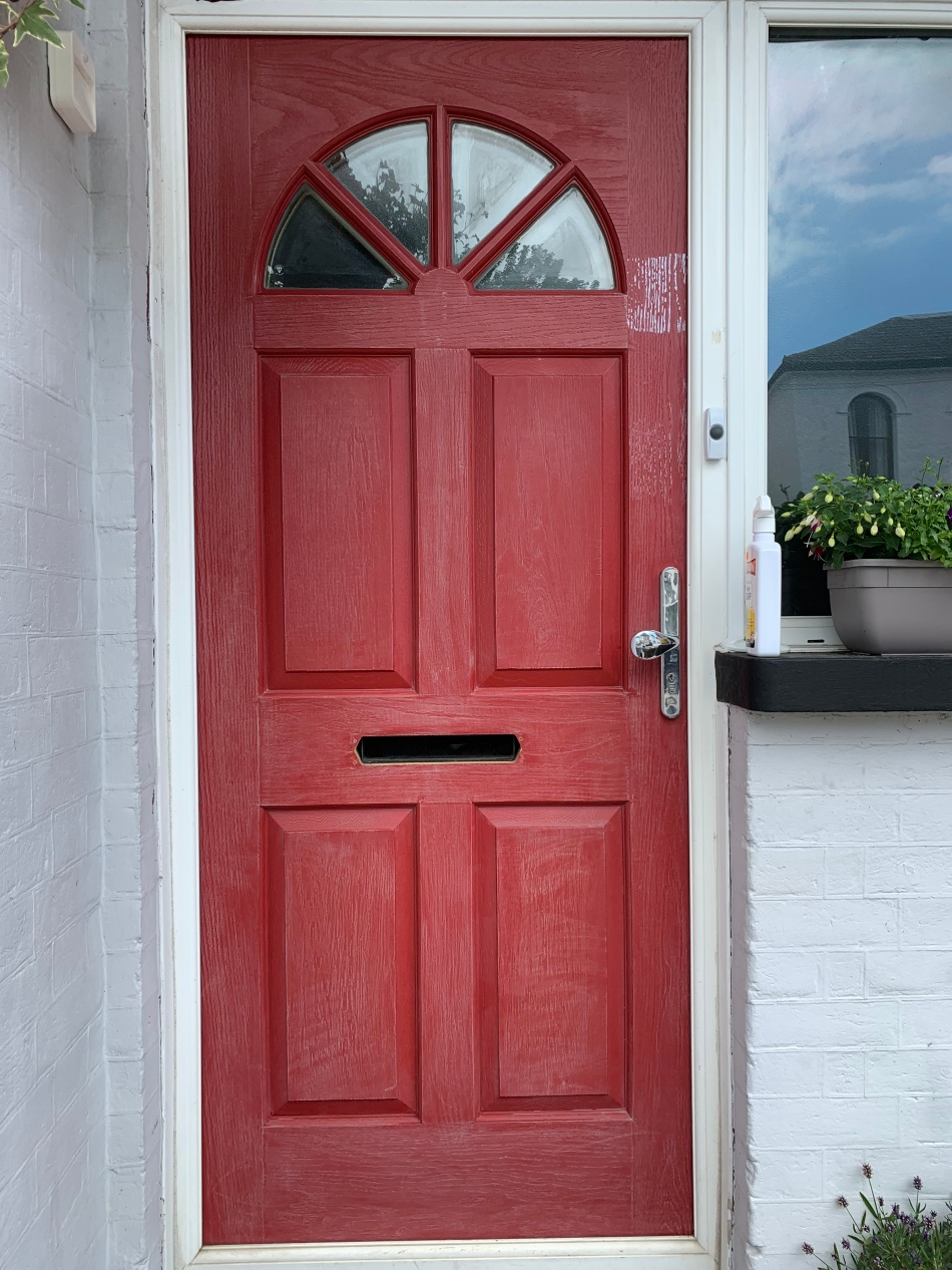 sanded down composite door