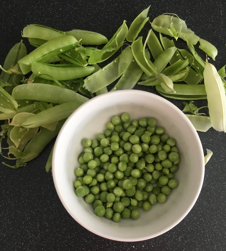 homegrown peas